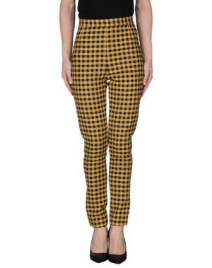 Повседневные брюки WOOD. Цвет: желтый