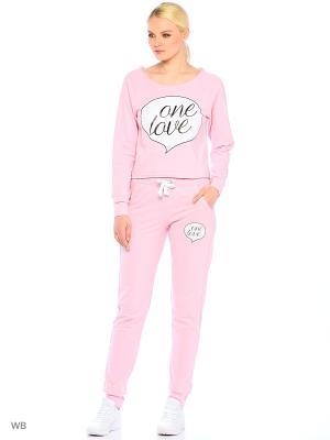Брюки Pink Woman. Цвет: розовый