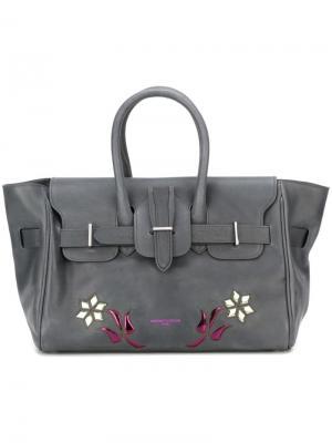 Декорированная сумка Golden Goose Deluxe Brand. Цвет: серый