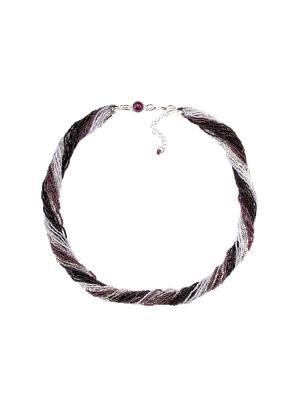 Бисерное ожерелье Bottega Murano. Цвет: черный, серебристый, фиолетовый