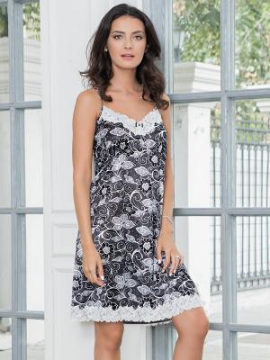 Ночная сорочка MIA-MELLA. Цвет: белый, черный