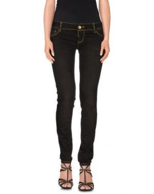 Джинсовые брюки JFOUR. Цвет: темно-коричневый