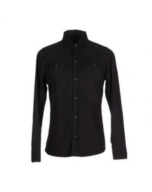 Джинсовая рубашка DANIELE ALESSANDRINI. Цвет: черный