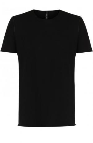 Хлопковая футболка с круглым вырезом Giorgio Brato. Цвет: черный