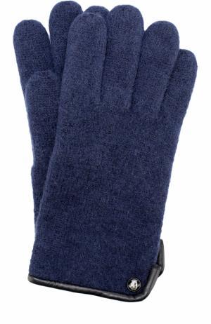 Шерстяные перчатки Roeckl. Цвет: темно-синий