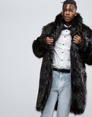 ASOS Коричневое пальто из искусственного меха. Цвет: коричневый