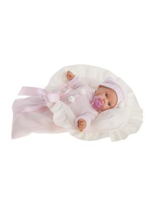 Кукла Ланита в розовом, плачущая, 27 см Antonio Juan. Цвет: розовый