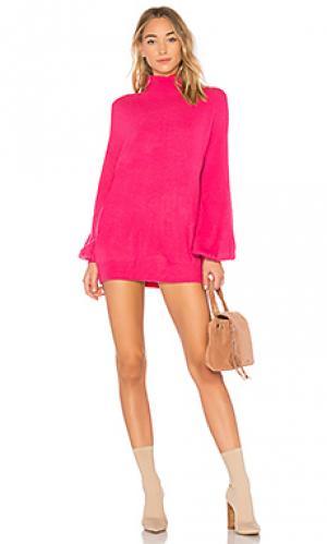 Платье свитер blaine Lovers + Friends. Цвет: розовый