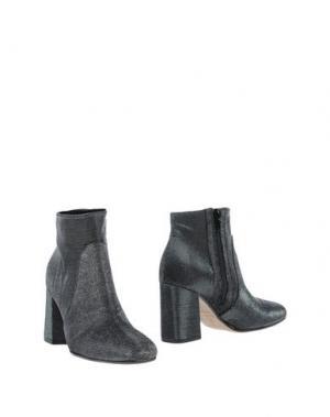 Полусапоги и высокие ботинки LE STELLE. Цвет: стальной серый