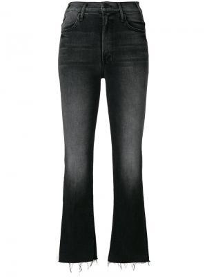 Укороченные джинсы с бахромой  Hustler Mother. Цвет: чёрный