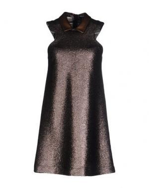 Короткое платье NINEMINUTES. Цвет: бронзовый