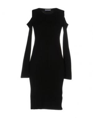 Платье до колена DANIELA FARGION. Цвет: черный