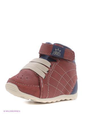Ботинки Klin. Цвет: красный