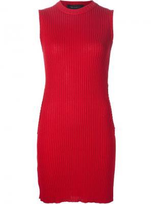 Платье без рукавов Circle Sweater Area Di Barbara Bologna. Цвет: красный
