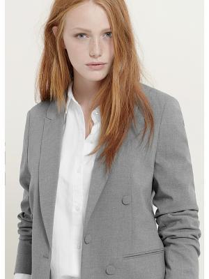 Пиджак Violeta by Mango. Цвет: серый