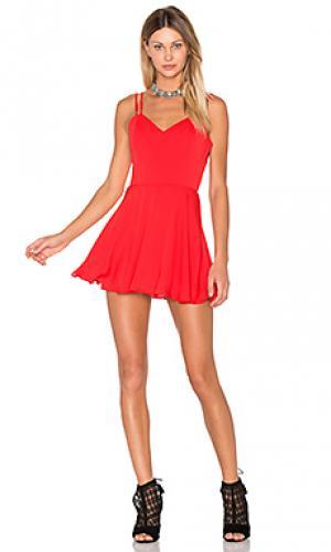Мини платье marie Amanda Uprichard. Цвет: красный