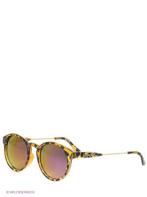 Солнцезащитные очки Funky Fish. Цвет: коричневый, фиолетовый