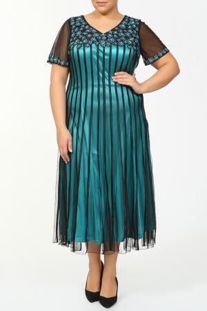 Платье Lia Mara. Цвет: бирюзовый