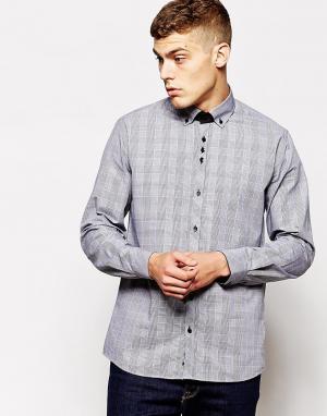 Guide London Узкая рубашка в клетку принц Уэльский