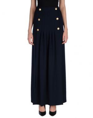 Длинная юбка DANIELA FARGION. Цвет: темно-синий