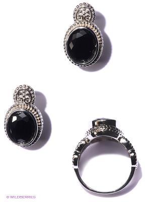 Комплект бижутерии Lovely Jewelry. Цвет: черный, серебристый