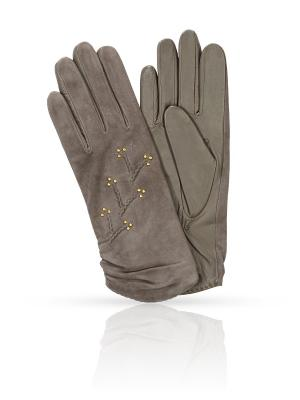 Перчатки MICHEL KATANA`. Цвет: серый