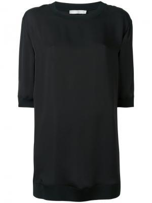 Классическая блузка Vince. Цвет: чёрный