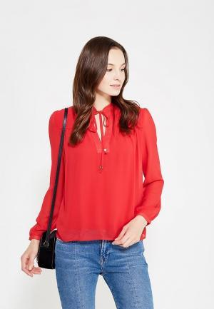 Блуза oodji. Цвет: красный