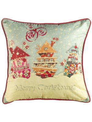 Чехол для декоративной подушки  Новогодняя сказка Apolena. Цвет: голубой
