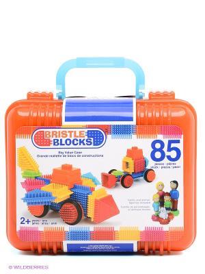 Конструктор игольчатый в чемоданчике, 85 дет Battat. Цвет: оранжевый, желтый, синий, голубой, красный