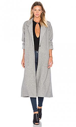 Пальто из флиса polar twenty. Цвет: серый