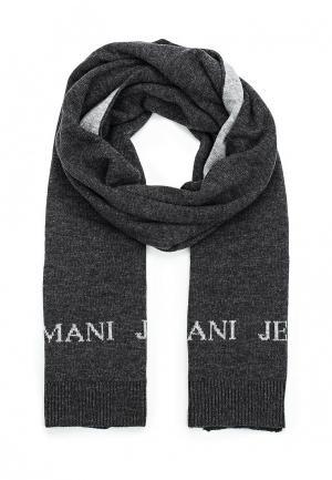 Комплект шапка и шарф Armani Jeans. Цвет: серый