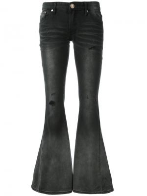 Расклешенные джинсы с заниженной талией One Teaspoon. Цвет: чёрный