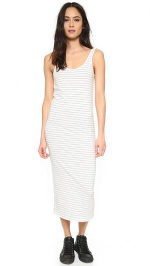 Миди-платье Vale. Цвет: белый/черная полоска