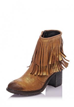 Ботильоны Bueno Shoes. Цвет: золотой