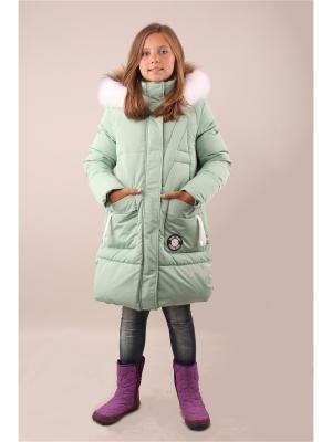 Пальто Fobs. Цвет: зеленый