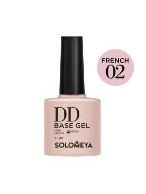 Суперэластичная DD-база цвет French 02/DD BASE GEL (French 02)(на основе нано-каучукового материала) SOLOMEYA. Цвет: бежевый