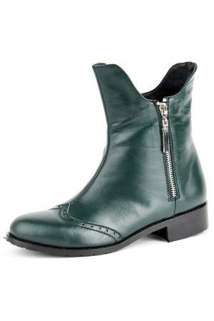 Ботинки Norka. Цвет: зеленый