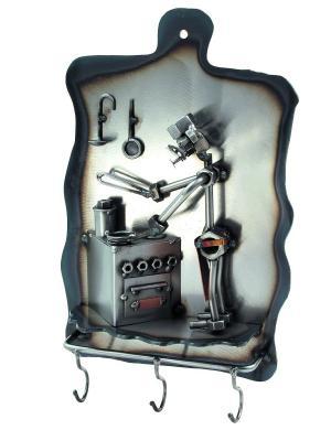 Вешалка для полотенец Повар Hinz&Kunst. Цвет: темно-серый