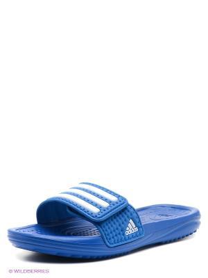 Шлепанцы HALVA 3 CF K Adidas. Цвет: синий
