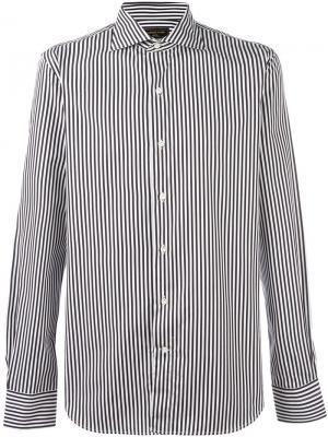 Полосатая рубашка на пуговицах Gabriele Pasini. Цвет: чёрный