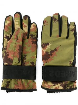 Перчатки Ski Dsquared2. Цвет: зелёный