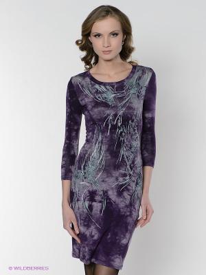 Платье FRENCH HINT. Цвет: фиолетовый