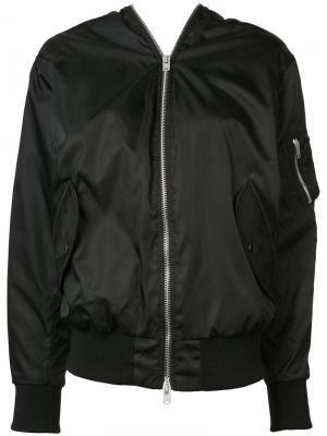 Куртка-бомбер с двухсторонней молнией Yang Li. Цвет: чёрный