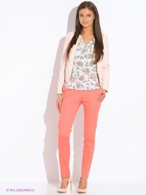 Куртка Oodji. Цвет: бледно-розовый