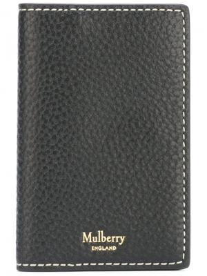 Удлиненный кошелек для карт Mulberry. Цвет: чёрный