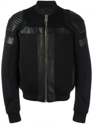 Куртка бомбер с панельным дизайном Les Hommes. Цвет: чёрный
