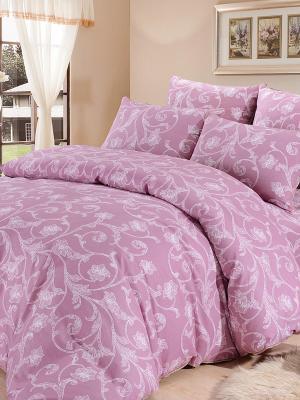 Комплект постельного белья, Эстелла, 1.5 спальный KAZANOV.A.. Цвет: розовый