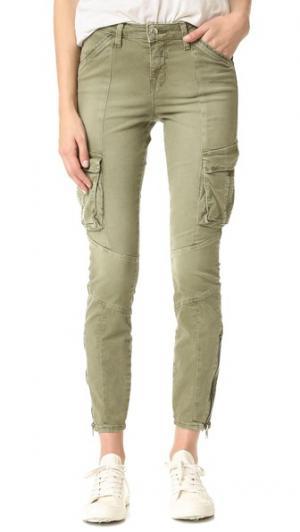 Узкие брюки-карго Montgomery L'AGENCE. Цвет: голубой