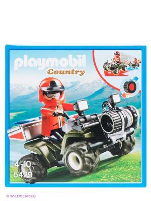 Спасательный квадроцикл Playmobil. Цвет: черный, красный